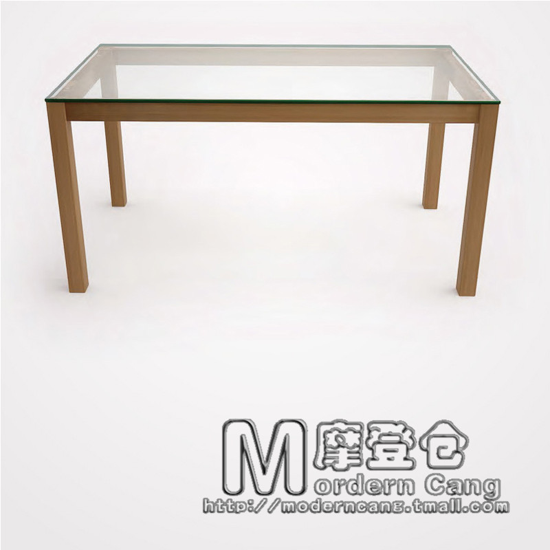 modern warehouse wood dining table glass living room