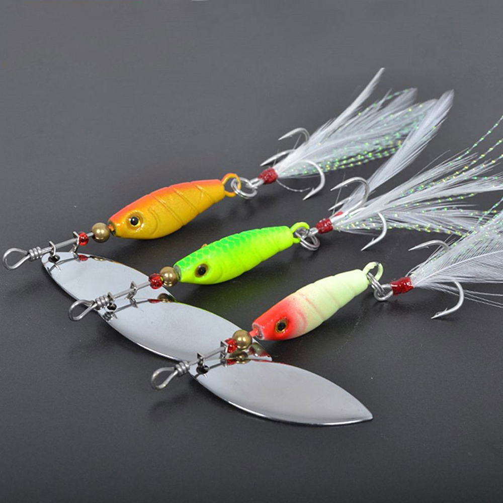 7cm10g 3pcs lot piscifun metal spoons isca artificial for How to make a fishing spinner