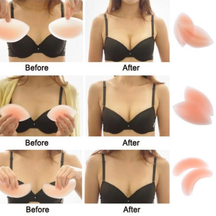 3 Types Sexy Women Silicone Gel Push Up Bra Pad Insert Breast Enhancer Bikini Swimsuit Pocket Padded Bra Swimwear Invisible Pads