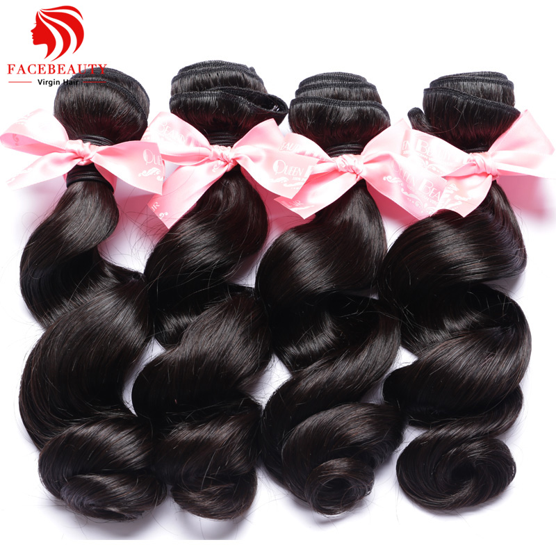Indian Virgin Hair Loose Wave 4pcs Lot Free Shipping 12-30 Super Indian Wavy Hair Remy Human Hair Weave Can Be Dyed and Bleached(China (Mainland))