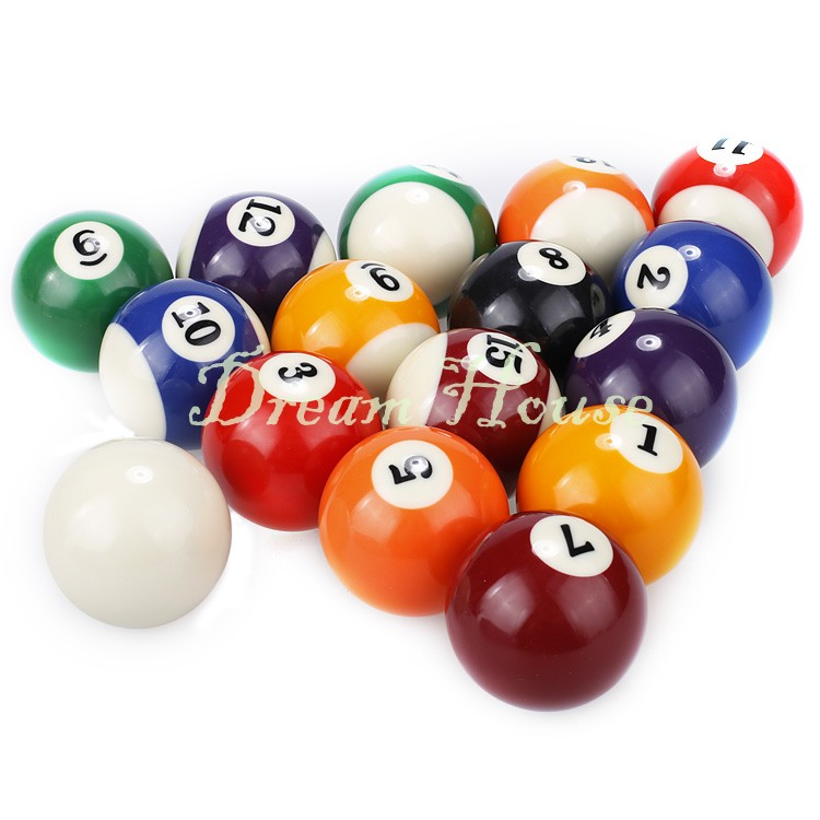 16PCS High Quality Low Shipping Cost Pool Billiard Balls Snooker Table Cue Ball 60mm 22(China (Mainland))