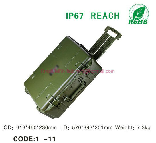 Portable Plastic sealed waterproof dry tool case security safety precision equipment box with Foma and caster ammo cans(China (Mainland))