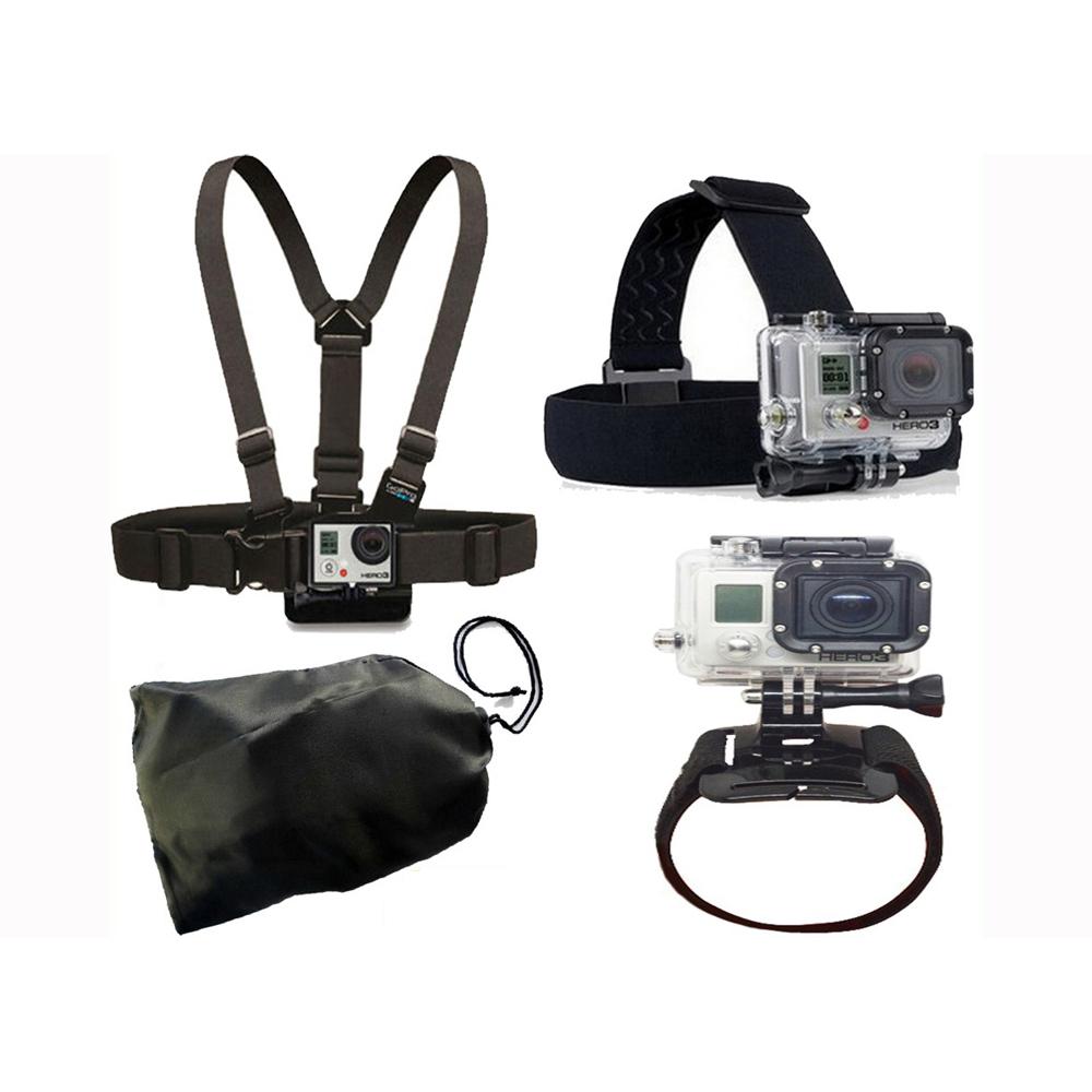 GoPro Accessories Kit Elastic Chest Belt Head Stap Mount Strap with Plastic for SJCAM Gopro Hero4/3+/3 SJ5000 SJ4000 XiaoYi(China (Mainland))