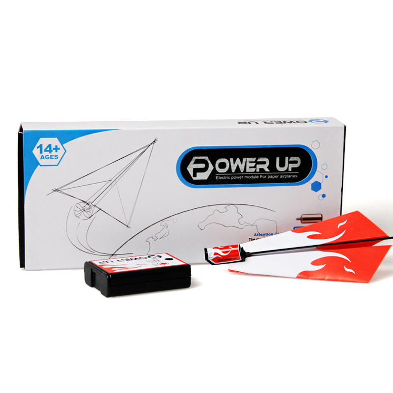 1 Pc Kid DIY Classic Education Flying Power Up Paper Plane Electric Airplane Conversion Model Kit Gifts Toys For Children Create(China (Mainland))