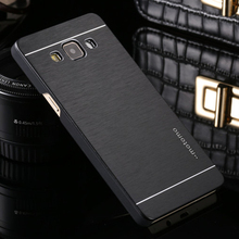 Deluxe Motomo Aluminum Metal Brush Hard Back Cover Case Samsung Galaxy J1 J2 J3 J5 J7 Prime A3 A5 A7 A9 2016 E5 E7 On5 On7 - iShopping-24 Hours Sincerely Serving You! store