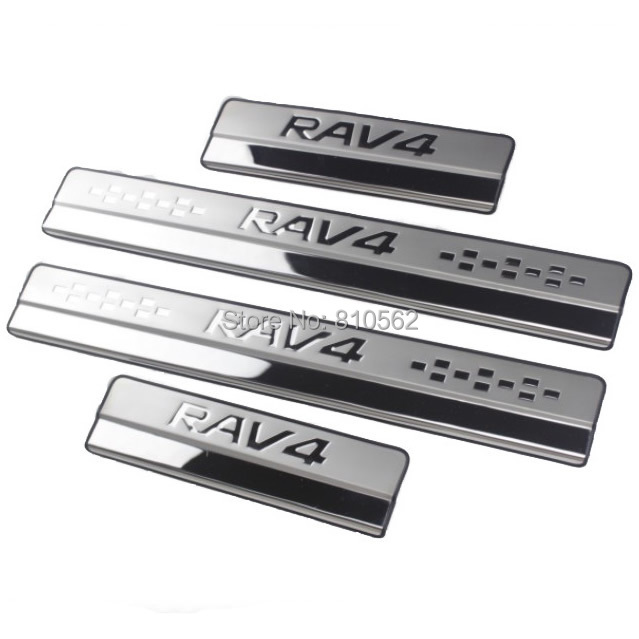 2012-2014 rav4 stainless steel door sill strip 2013 Toyota RAV4 welcome pedal auto accessories 4pcs/lot,Free shipping(China (Mainland))