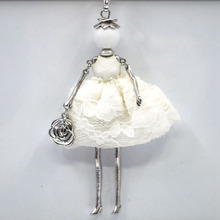 2015New fashion jewelry necklace doll Pendant Necklace Jewelry sales girl female charm jewelry retail free shipping