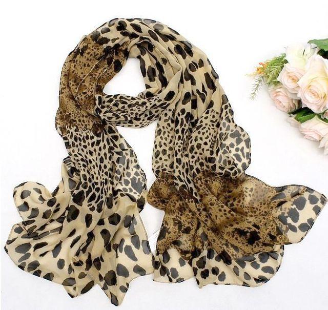 Женщины на нескольких - пути Scaves леопарда точки длинный шарф дешевые бесплатная доставка PJ112P50