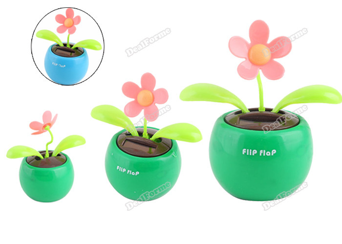 Onebyone quickly Solar Powered Flip Flap Flower Cool Car Dancing Toys Excellent fancy(China (Mainland))