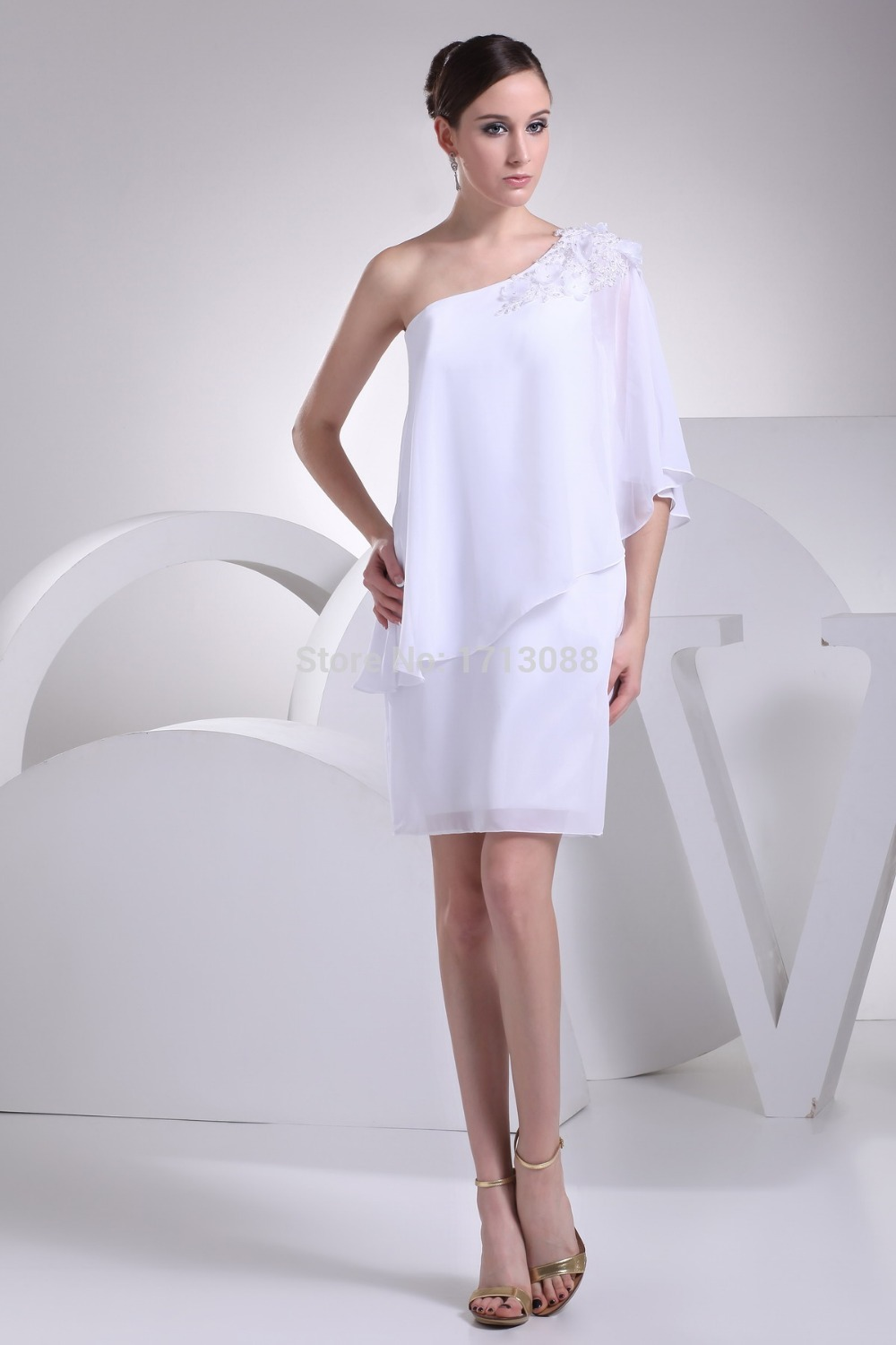 Mother of the groom dresses for summer with one shoulder for Summer wedding mother of the bride dresses