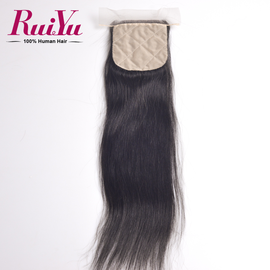 Здесь можно купить  Brazilian Silk Base Closure Virgin Brazilian Straight Closure Human Hair Weave 7A  Grade Straight Brazilian Closure No Shedding  Волосы и аксессуары