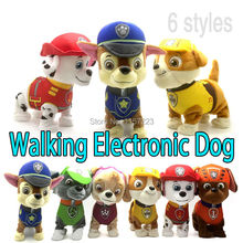 Walking Barking Musical Robot Dog Electronic pet Toys Interactive Electric Pets Plush Toy Dog Christmas Gift For Kids(China (Mainland))