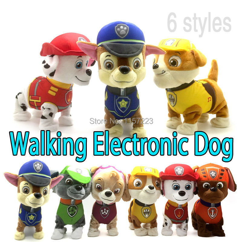 Walking Barking Musical Patrol Robot Dog Electronic pet Toys Interactive Electric Pets Plush Toy Dog Christmas Gift For Kids(China (Mainland))