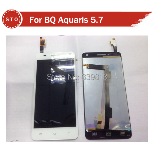 Original FOR BQ Aquaris 5.7 LCD Display +digitizer touch Screen Assemblely black or white color free shipping