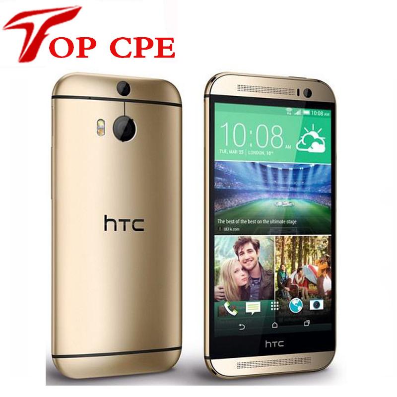 "5.0"" Original M8 Unlocked HTC ONE M8 Quad Core Android 4.4 RAM 2GB + ROM 16GB/32GB Bluetooth WIFI GPS refurbished Mobile Phone(China (Mainland))"
