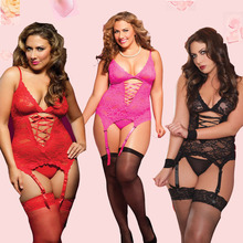 sexy lingerie hot soft lace Sling deep V-neck chemise SM cosplay sexy plus size lingerie 4 color lenceria sexy sexy costumes
