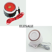 DC 12V 120dB Ear Piercing Indoor Siren Wired Mini Horn Siren Home Security Sound Alarm System Elesale