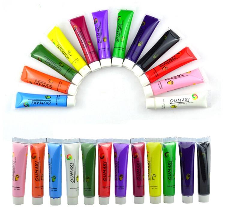 12 Colors/set Draw Painting 3D Nail Art Paint Tube Acrylic Nail Art Tip UV Gel nail gel nail tools Free Shipping<br><br>Aliexpress