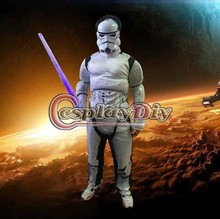Star Wars White Clone Trooper Cosplay Costume Soldiers Storm Commando Boys Muscle Superhero Outfit Costume D1121