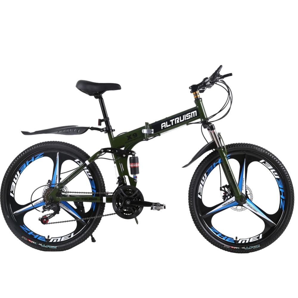 ALTRUISM X9 Pro Steel 24 Speed 26 Inch Folding Bike 3 Spokes Mountain Bike Road Bicycle Mountain Bikes(China (Mainland))