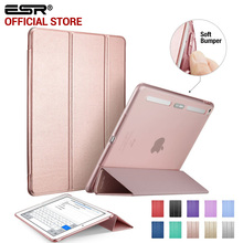 Case for iPad Air 2, ESR PU Leather Front Cover+Soft TPU Bumper Edge Stand color Auto Sleep Smart case for iPad Air 2 for iPad 6(China (Mainland))