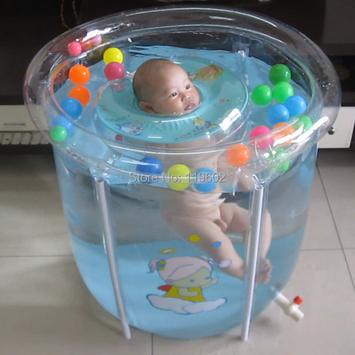 Transparent montage b b s nageurs piscine pataugeoire for Bebe dans piscine