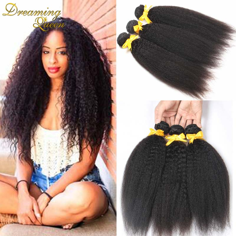 3new- 6A+ Unprocessed Instock Weave Maylasian Kinky Straight Hair Extension 3pcs/lot Coarse Yaki Virgin Hair Light Yaki straight<br><br>Aliexpress