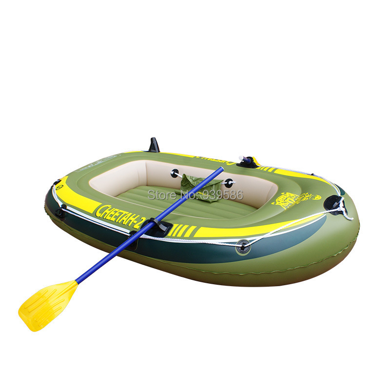 CHEETAH -2 inflatable boat HOT summer rowing 0.5 mm thick PVC Drifting dinghy fishing boat - 2 persons 190cm * 120cm * 28cm(China (Mainland))
