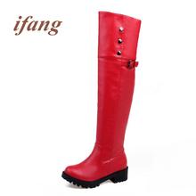 Ifang Martin Botas de Invierno Sobre la Rodilla botas de Nieve de Las Mujeres botas Botas de Felpa de Las Mujeres Zapatos de Mujer Botas de Mujer 34-52(China (Mainland))