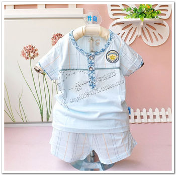 wholesale Children's clothing infant clothes baby boy summer set bamboo fibre male child clothes 6 1 2 3