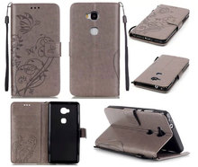 Luxury Embossed Mobile Phone Funda Ascend Huawei P8 Lite P9 Plus Y625 4C 5C 5X Y6 6P Cover Flip Case PU Leather A53 - Day Selling store