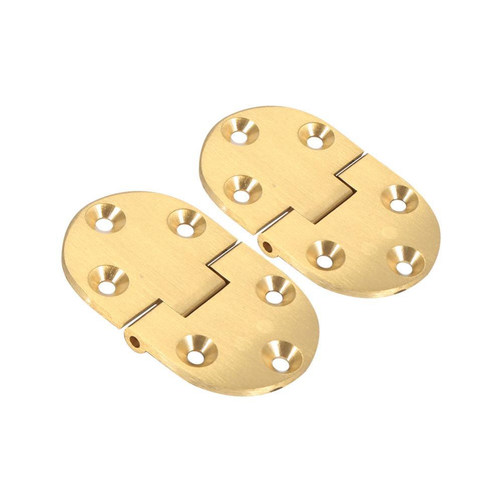 "1 Set High Hardness Brass Hinge 2 x Brass Tray Hinge Round Edges+12x Brass screws 2-1/2""x1-1/2"" Suit for Folding Table(China (Mainland))"
