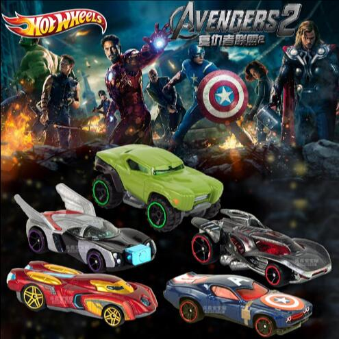 Small car hot hot wheels anime Movie series The Avengers Hot wheels car Five car models boys toy car High-quality(China (Mainland))
