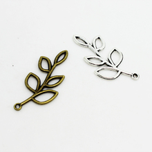 20x40mm Alloy Branch Filigree Leaf Branch Charm charm connector for vintage handmade diy bracelets bangles jewelry making(China (Mainland))