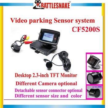 Free shipping Car rearview parking system 2.3inch TFT monitor/CMOS camera CF5200S Video parking sensor system
