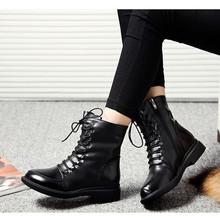 Mujeres del cuero genuino botas moda invierno nieve botas calientes del algodón Zapatos casuales Zapatos de Mujer Zapatos de Mujer 35-40 gran tamaño(China (Mainland))
