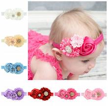 Buy 8pcs/lot Rose Flower Headband Baby Girl Crystal Rhinestone Newborn Princess Elastic Hairband Accessories Children 586 for $8.87 in AliExpress store