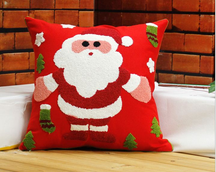 Aliexpress.com : Buy Embroidered christmas pillow decorative cushion cover beautiful sofa ...