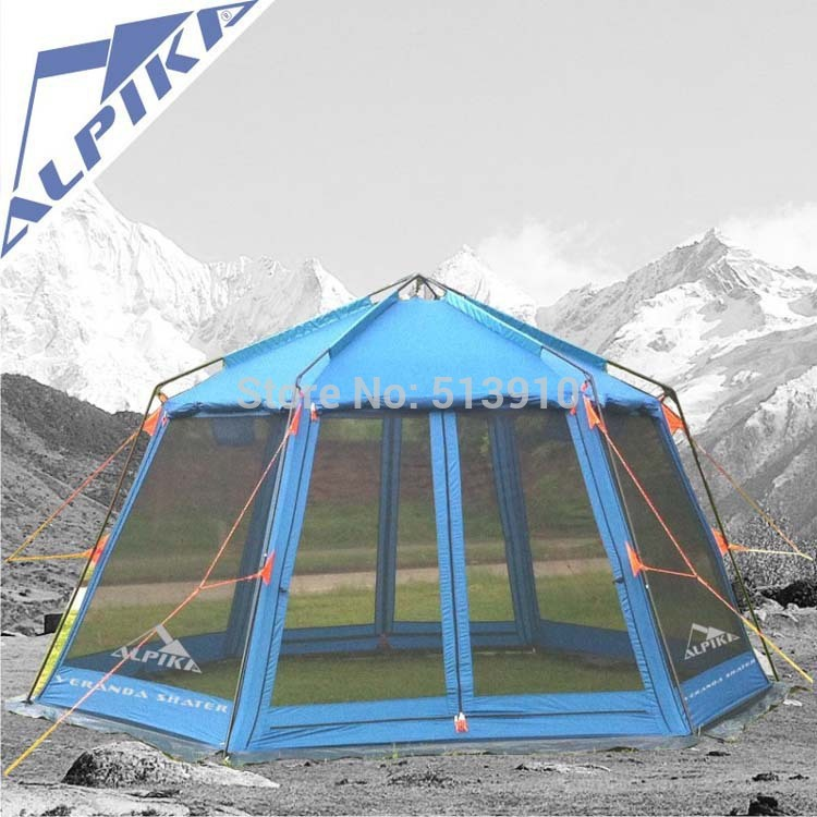 Super large anti-storm 8+person outdoor tent Multi-purpose hexagon gazebo, large family tent<br><br>Aliexpress