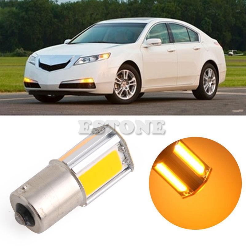For BAU15S 27 SMD LED 1156 PY Amber/Yellow Indicator Turn Signal Light Bulb Globe(China (Mainland))