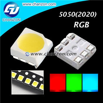 Free Shipping 100pcs Ultra Bright Red Green Blue SMT SMD LED RGB 5050 LED DIODE Chip Light Emitting Diode Beads Lamps(China (Mainland))