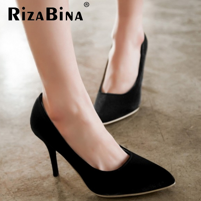 women platform high heel shoes sexy quality spring fashion heeled footwear brand pumps heels shoes size 32-43 P16332
