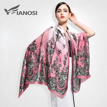 [VIANOSI] 2016 Newest Top Design Women Scarf Luxury Brand 100% Silk Scarves Shawl High Quality Print Bandana VA007(China (Mainland))