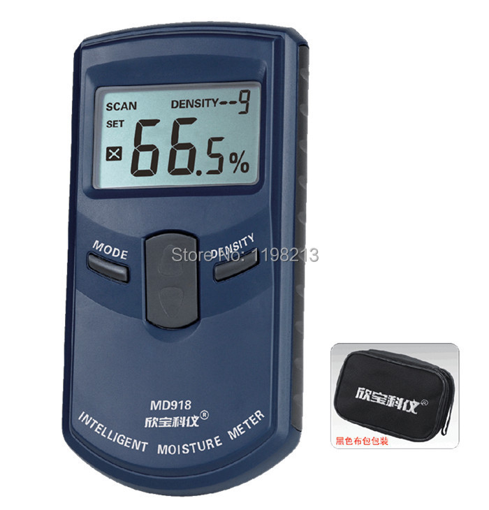 MD918 induction type wood moisture meter & measuring humidity instrument