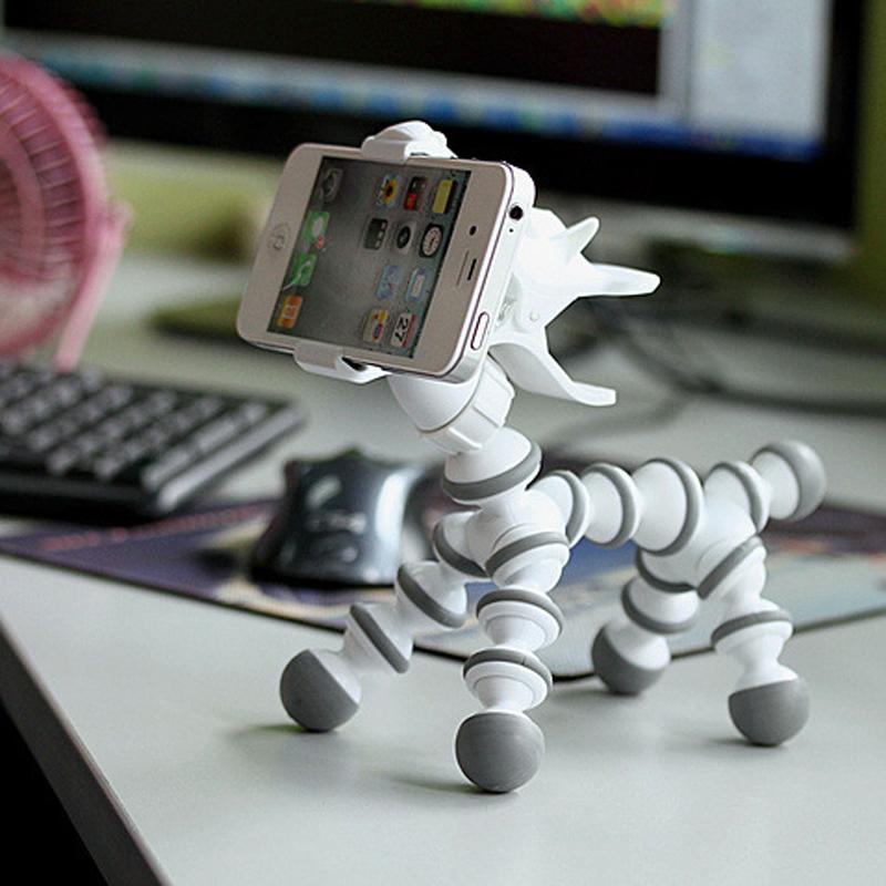 GOESTIME Universal Animal Horse Shape Mobile Phone Holder Flexible Tripod Rotatable Stand Support Display Cartoon Monopod Holder(China (Mainland))