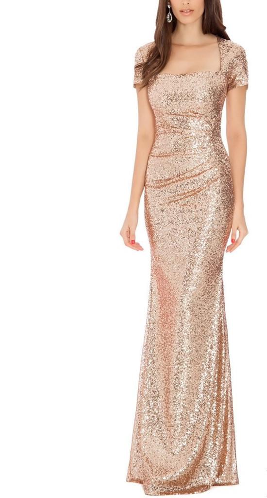 Popular Long Gold Sequin Dress Buy Cheap Long Gold Sequin