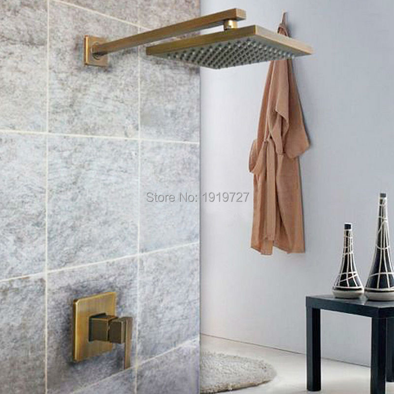 Factory Direct 100% Lead Free All Copper Bath Tub Mixer Tap Antique Bathroom Shower Set In The Fountain With Brass Shower Head(China (Mainland))