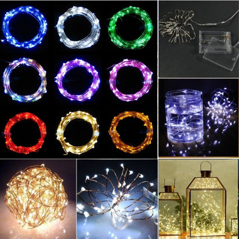 Mini Lamps LED Copper Wire 20 LEDs Battery Operated String Fairy Lights 2M Hot(China (Mainland))