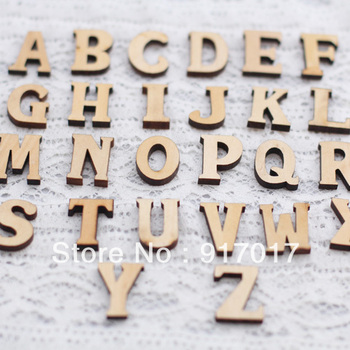Free Shipping 2set (26 letters and 10 numbers each set)Wooden English  Letter  handmade diy wood letter zakk blockwood
