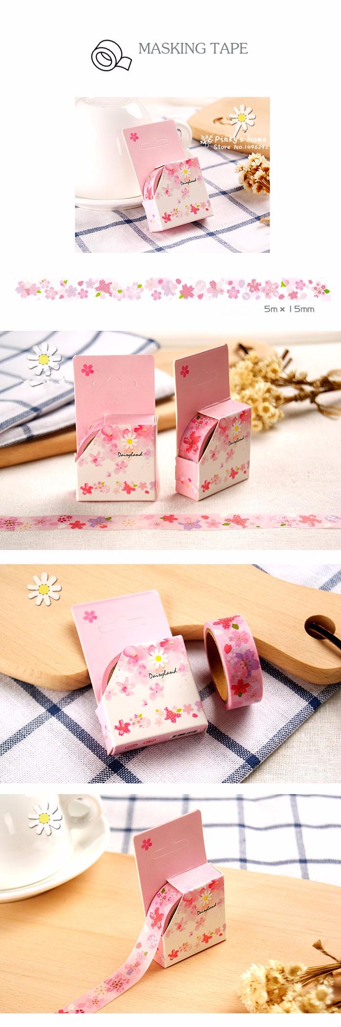 ⊱15mm Wide Sakura Floral ᗜ Ljഃ Washi Washi Tape DIY Scrapbooking ...